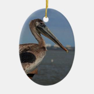 Ein blendentreibnetzfischer II Ovales Keramik Ornament