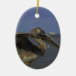 Ein blendentreibnetzfischer III Ovales Keramik Ornament
