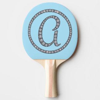 Ein bling Paddel pong Klingeln des Monogramms Tischtennis Schläger