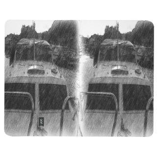 Ein Boot Taschennotizbuch
