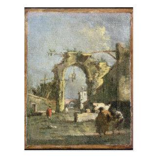 Ein Capriccio - Ruinen, 18. Jahrhundert Postkarte
