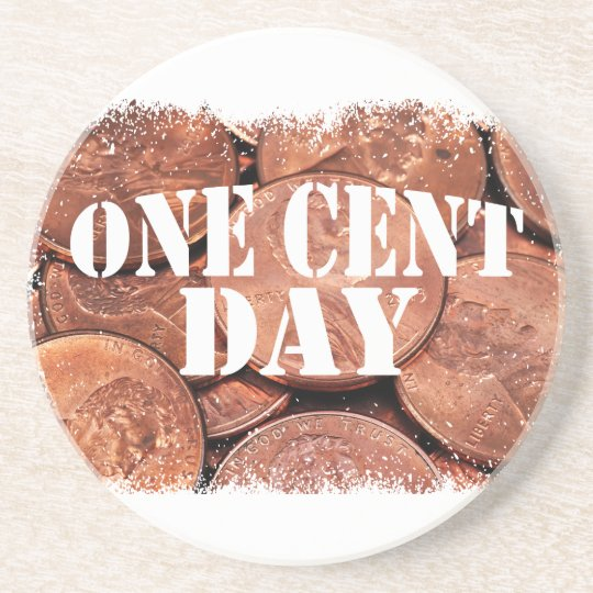 Ein Cent-Tag Bierdeckel