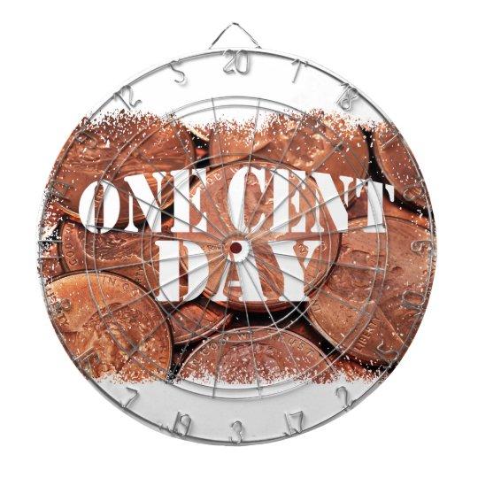 Ein Cent-Tag Dart-scheibe