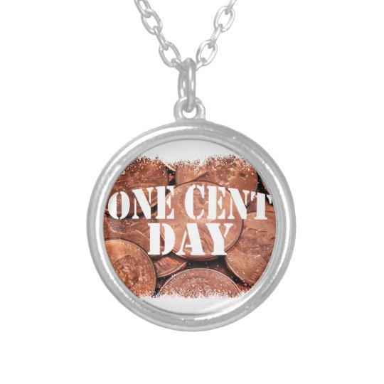 Ein Cent-Tag Halskette Mit Rundem Anhänger