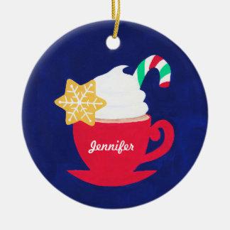 Ein Cup von 'Tis die Jahreszeit Rundes Keramik Ornament