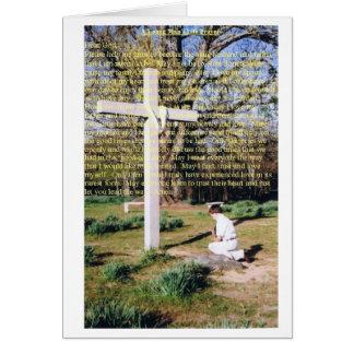 Ein Das Leben-Gebet des jungen Mannes Karte