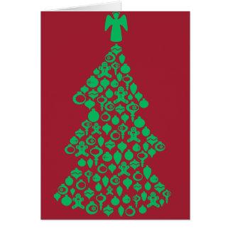 Ein dekoratives Weihnachten Karte