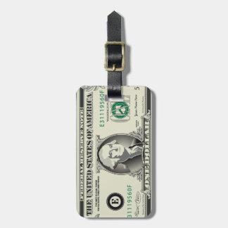 Ein Dollarschein-Gepäckanhänger US $ Kofferanhängern