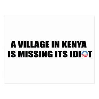 Ein Dorf in Kenia ist sein Idiot vermisst Postkarte