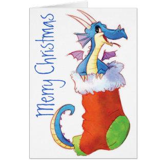 Ein Drache in meinem Strumpf Karte