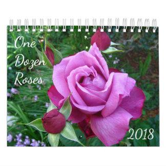 Ein Dutzend Rosen-Foto-Kalender 2018 Kalender
