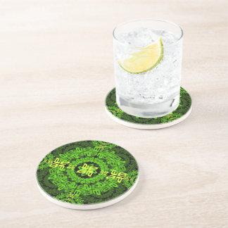 ein-e-Kreis-mit Ziegeln gedeckt Getränkeuntersetzer