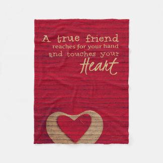 Ein echter Freund - eine Freundschafts-Decke - Fleecedecke