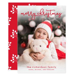 Ein einfaches Foto der frohen Weihnacht-  Karte