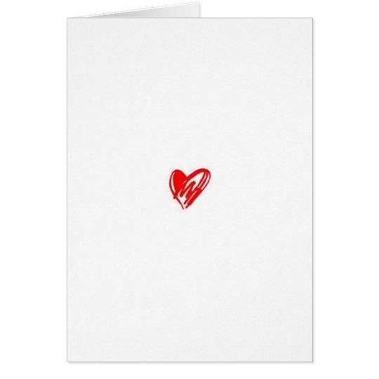 Ein einfaches Liebe-Gedicht Grußkarte