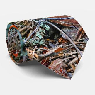 Ein einsame Blätterpilz-Pilze Personalisierte Krawatten