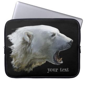 Ein Eisbär knurrt Laptopschutzhülle