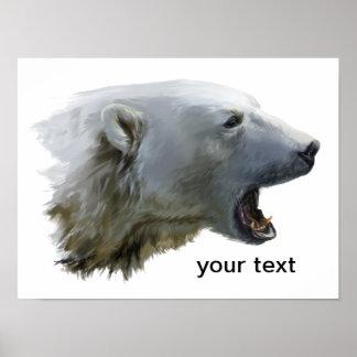 Ein Eisbär knurrt Poster