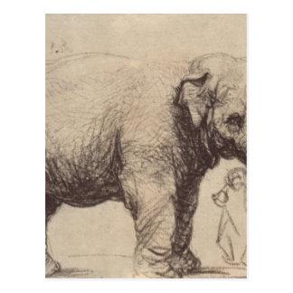 Ein Elefant durch Rembrandt Postkarte