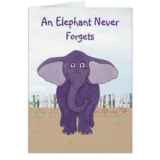 Ein Elefant vergisst nie - spezielle Grußkarte
