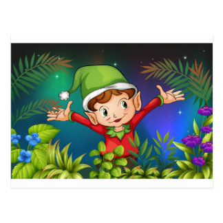 Ein Elf am Garten Postkarte