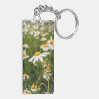 ein Feld der Kamillen-Blumen Schlüsselanhänger