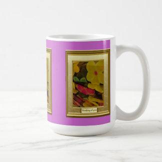 Ein Fest der Farbe, Falten der Blumen Kaffeetasse