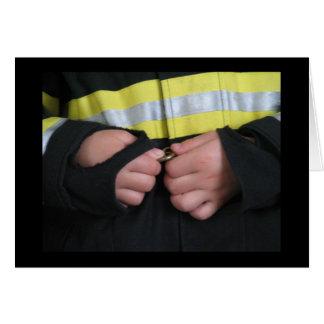 Ein Feuerwehrmann der Mama Karte