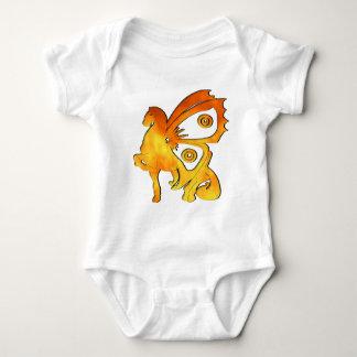 Ein Flammen-Pony Baby Strampler