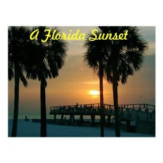 Ein Florida-Sonnenuntergang Postkarte
