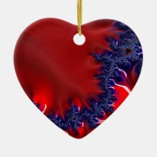 Ein Fluss auf Mars Keramik Herz-Ornament