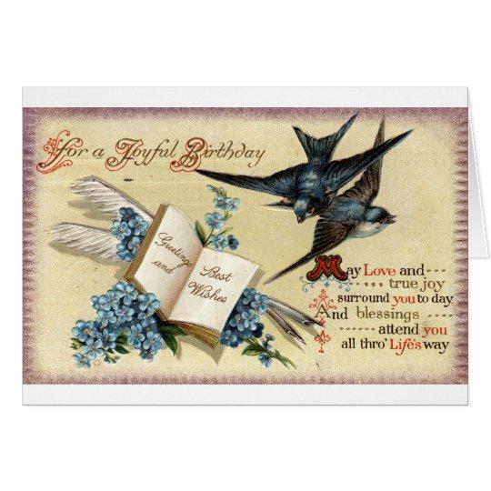 Ein froher Geburtstag Vintages Repro 1913 Grußkarte