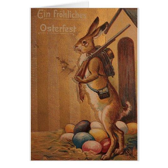Ein Frohliches Osterfest!  Vintager Deutscher Grußkarte