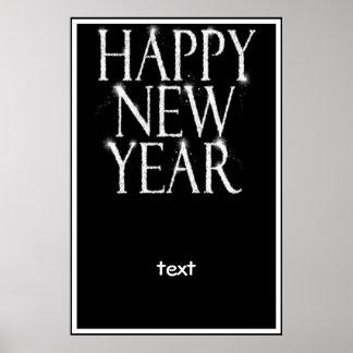 Ein Funkelnguten Rutsch ins Neue Jahr Poster