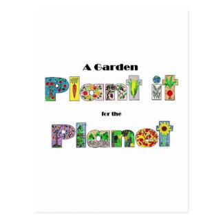 Ein Garten, Pflanze es für den Planeten, earthday Postkarte