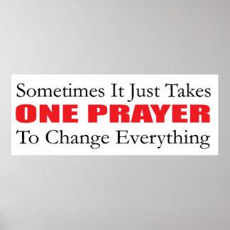 Ein Gebets-Plakat Poster