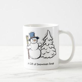 Ein Geschenk der Schneemann-Suppe Kaffeetasse