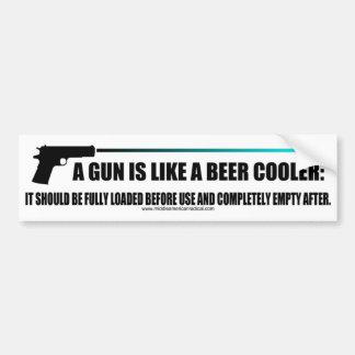 Ein Gewehr ist wie ein cooleres Bier Autoaufkleber