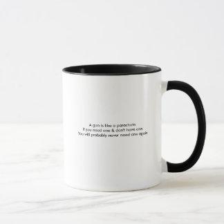 Ein Gewehr ist wie eine Fallschirm-Tasse Tasse