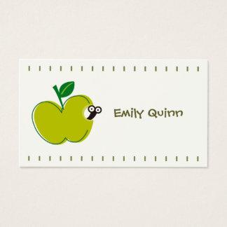ein grüner Apfel u. ein kleiner Wurm Visitenkarte