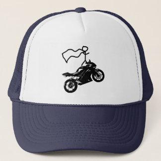 Ein guter Zeithut des Wheelie. Durch Moto Life™ Truckerkappe