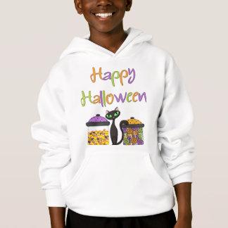 Ein Halloween-Süßigkeits-schwarze Katzen-T - Shirt