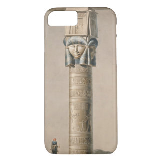 Ein Hathor ging Säule bei Dendarah, Illustration iPhone 8/7 Hülle