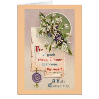 Ein heiliges Ostern-Vintages christliches Karte