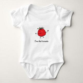 Ein heißer Tomate-Baby-Bodysuit Baby Strampler