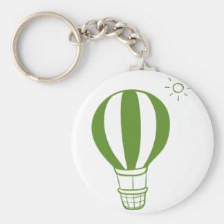 Ein Heißluftballon und eine Sonne Schlüsselanhänger