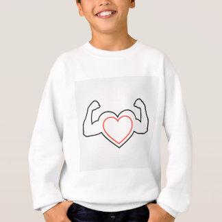 Ein Herz mit dem Biegen des gesunden Herzens der Sweatshirt