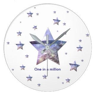 Ein in einer million| Stern-Uhr Große Wanduhr