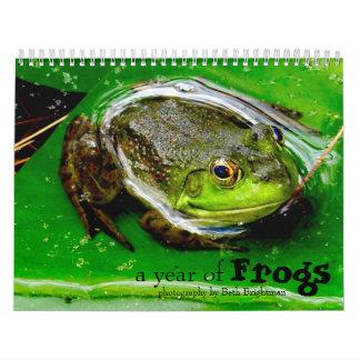 Ein Jahr des Frosch-Kalenders Wandkalender