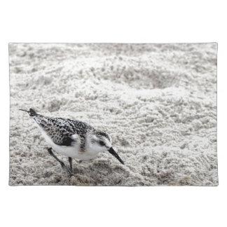 Ein junger Snowy-Regenpfeifer-Vogel Stofftischset